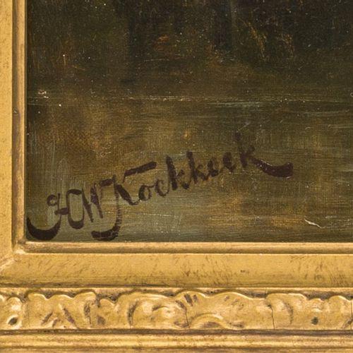 Hermanus Willem Koekkoek (Amsterdam 1867 1929), Cuirassiers scouting. Signé (en …
