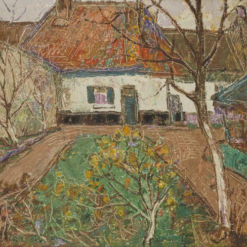 Jan Baartmans (Bergen op Zoom 189 1968), Een boerenhofje. Signé (en bas à droite…