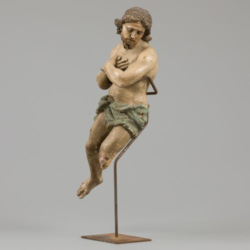 A polychrome sculpture of the risen Christ, Italy, ca. 1600. 测量。长:35厘米。估计:300 60…