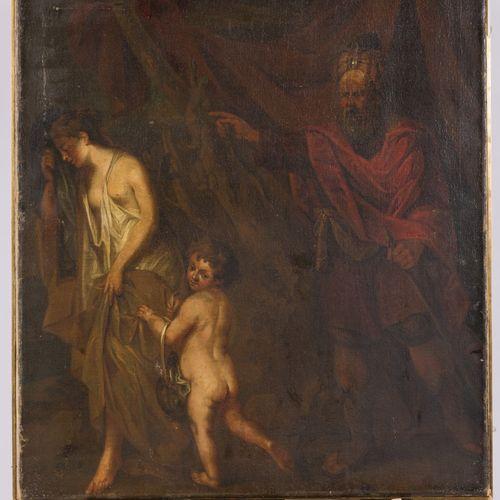 French School, ca 1800. The banishment Huile sur toile, non teintée. Dim. 86 x 6…
