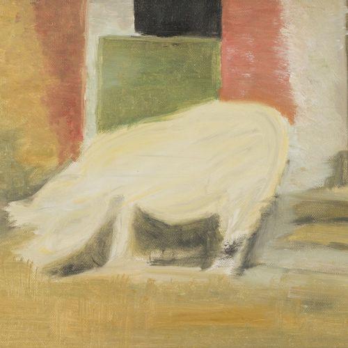 Attributed to Eberhard Havecost (Dresden 1962 2019 Berijn), A pig by a farmdoor …