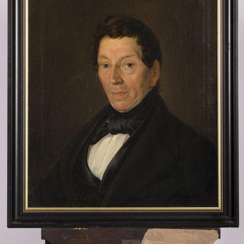 Johannes Hollander Pzn. (Oosterhout N B 1821 1899), Portrait of a gentleman. 签名并…
