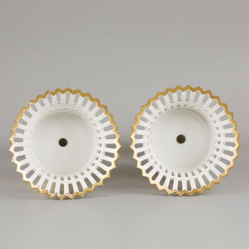 A set of (2) Empire gilt porcelain coupes, France, 1st half 19th century. Dim.22…