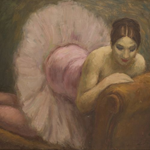 Attributed to Leonide Frechkop (Moscow 1887 1982 Brussels), A ballerina reclinin…