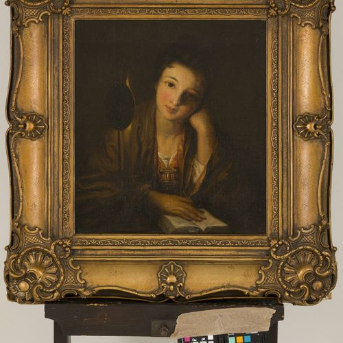 Dutch School, ca. 1800. Portrait of a girl reading. 布面油画,无签名。Dim.49 x 40厘米。估计:15…