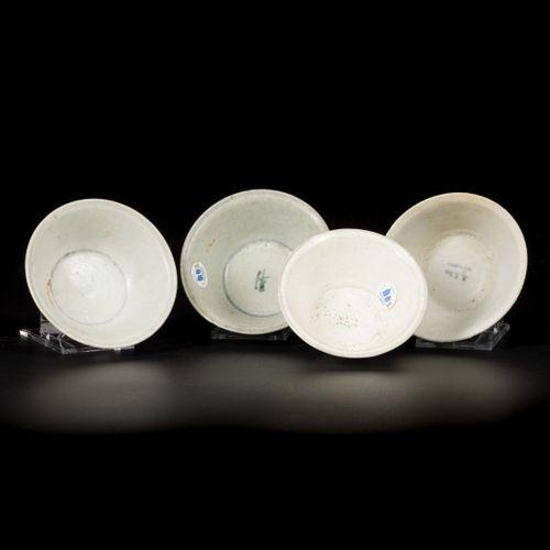 """A lot comprising (4) rice bowls """"Vung Tao Cargo (Christies 1992) """", China, Kangx…"""