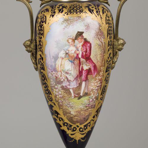 A set of (2) porcelain vases with bronze mounts, Chateau des Tuileries. France, …
