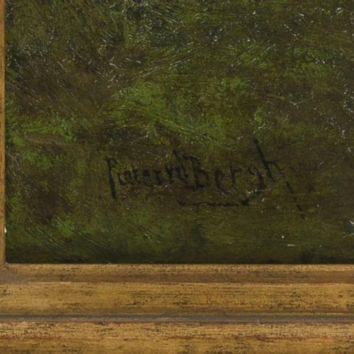 """""""Pieter"""" Annanius van den Berg (Den Haag 1865 1950) Mill underneath a cloudy sky…"""