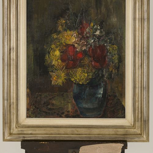 Henriëtte Pessers (Tilburg 1899 1986), Still life with flowers. 签名(左下),布面油画。Dim.…