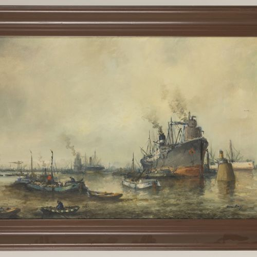 "Willem ""Wim"" Bos (Rotterdam 1906 1974 Den Haag), Activities in Rotterdam harbour…"