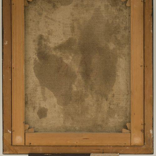 German School, 18th Century. Portait of a man in uniform. 带着家人的枕头(右上方),布面油画。Dim.…
