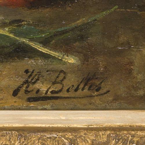 Hubert Bellis (Brussel 1831 1902 Sint Joost ten Node, Br.), Still life with stra…