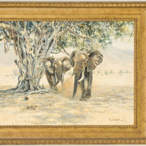 Donald Grant (North Shields, Northumberland, VK 1930 2001). African elephants by…