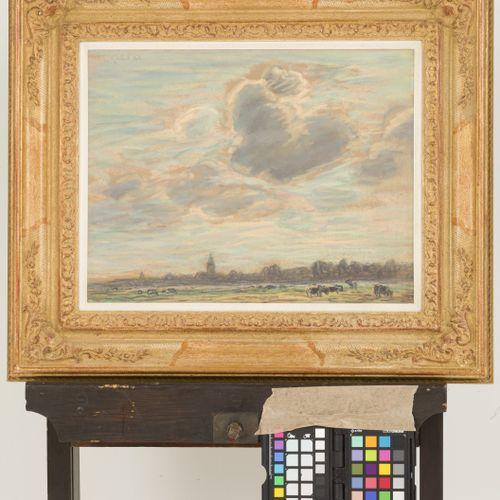 """Leendert """"Leo"""" Gestel (Woerden 1881 1941 Hilversum), Clouded skies, Blaricum. Si…"""