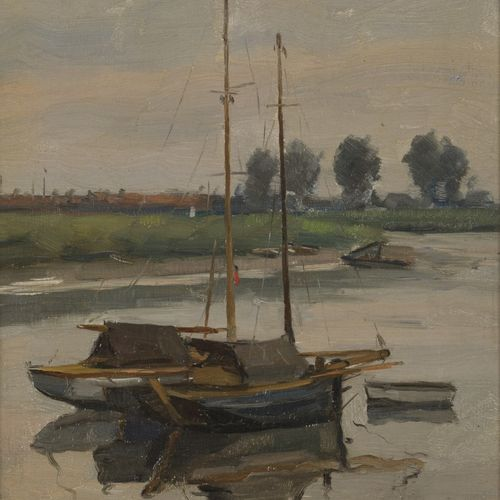 Cor Noltee (The Hague 1903 1967 Dordrecht), Sailing boats on the Merwede near Do…