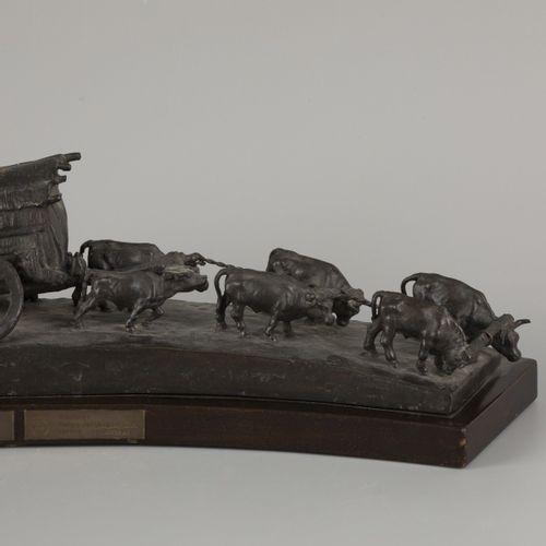 D'après José Belloni (Uruguay 1882 1965 Montevideo, Uruguay). La Carreta' 测量。15 …