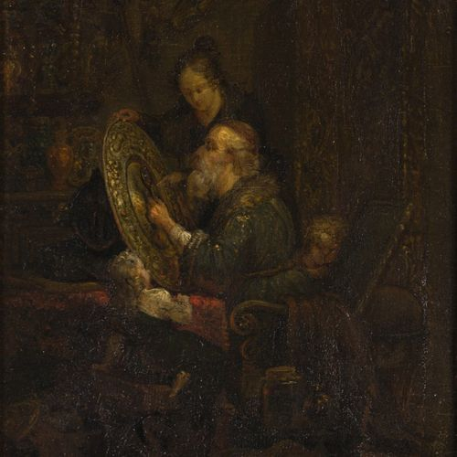 Dutch School, 19th C., The collectors cabinet. 无签名,板面油画。Dim.21,5 x 16 cm.估计:80 1…