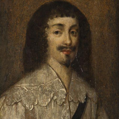 English School, 17th C. Portrait of a nobleman. Avec cachet de cire (verso), hui…