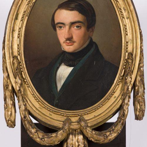 Belgian School, ca. 1830. Portrait of a young gentleman. Sans ailes, monté dans …