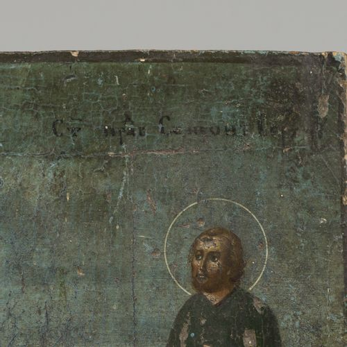 A Greek icon with unknown subject matter, possibly calling of St. Peter (?), 18t…
