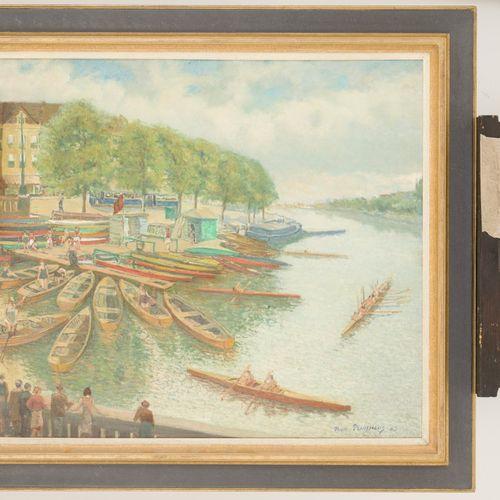 Antonie Bernardus Pluymers (Middelburg 1910 1967 Amsterdam), Rowing club. 签名并注明日…
