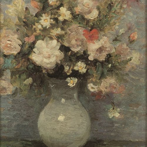 Marcel Dyf (Parijs 1899 1985 Bois d'Arcy, Fr.), White roses and daisies in a vas…