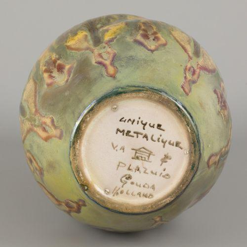 """A Plazuid """"Unique metalique"""" Gouda earthenware vase, Gouda, The Netherlands, ca.…"""