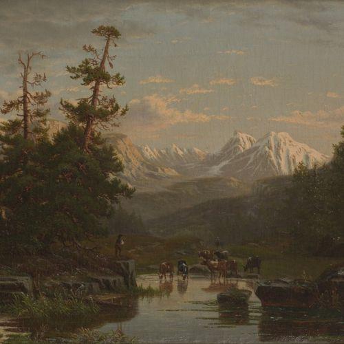 Eliza Agnetus Emilius Nijhoff (Arnhem 1826 1903 Stadspoort Noord), Een mountain …