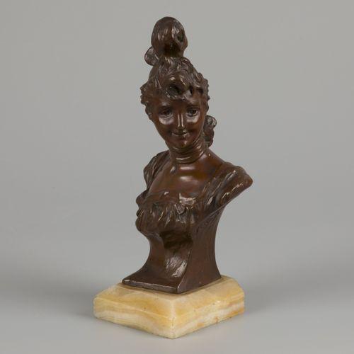 Georges van der Straeten (Ghent 1856 1928 Ghent), Art Nouveau buste of an aristo…