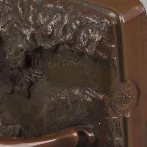Louis Auguste Hiolin (1846 1910), A bronze sculpure of a water carrier Aguador, …