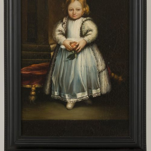 East European School, 20th Century, A portrait of a young child in 17th C. Dress…