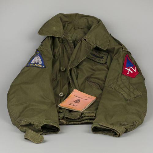 A flight jacket / bomber jacket, Black Lions, F14 Tomcat, together with a flight…