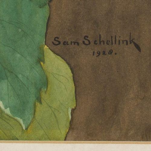 "Sam Schellink (Utrecht 1876 1958 The Hague), Still life with flowers. 签名,日期为 ""19…"