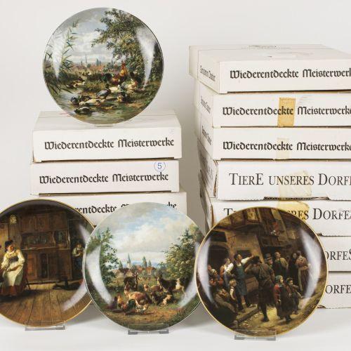 Hubert Kaplan Seltmann Weiden (12) Plates, Tiere unseres Dorfes. Null