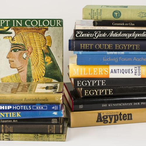 A lot of various books including books about Ancient Egypt, 20th century. Null
