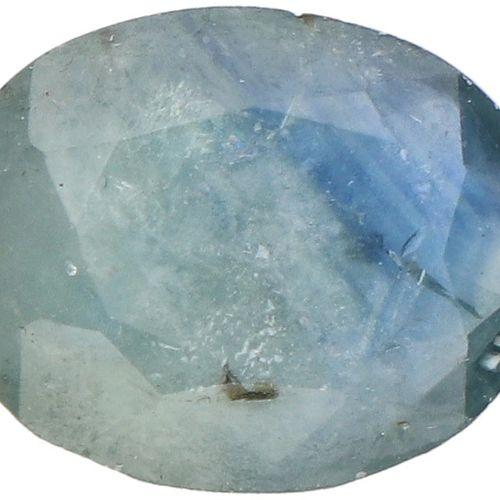 GLI Certified Natural Sapphire Gemstone 2.95 ct. Corte: Mixto ovalado, Color: Az…