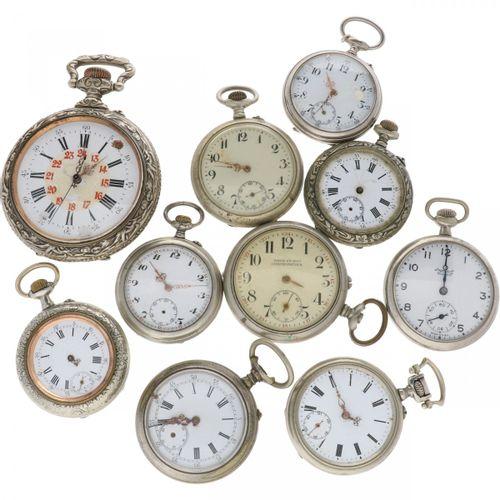 Lot Pocket Watches (10) Metal Posten von 10 Taschenuhren, Werke sind in schlecht…