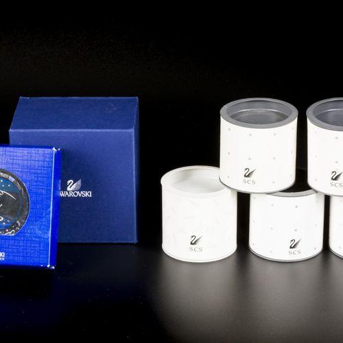 (7) piece lot Swarovski paperweights 各种各样的,有原始的盒子。估计:10 50欧元。
