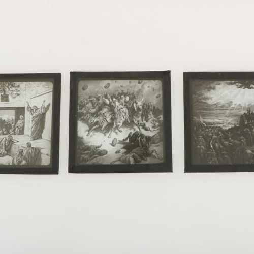 A large lot glass dia's with a.O. Biblical scenes, ca. 1900. En varias cajas de …