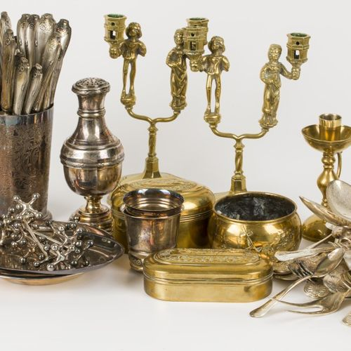 A lot comprising various silver plated items, together with various copper items…