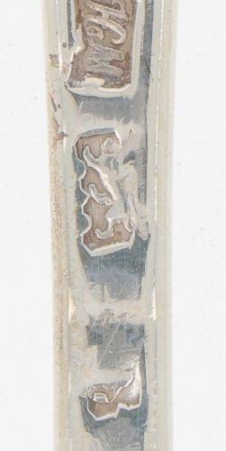 Spoon (London Henry Morris 1740) silver. Modelo delgado. Reino Unido, Londres, H…