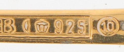 """(4) part lot year spoons """"Robbe & Berking"""" silver. Número de año: 1983/1985/1990…"""