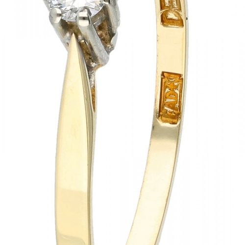 14K. Yellow gold Desiree solitaire ring set with approx. 0.09 ct. Diamond. Beset…