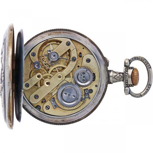 Regulateur Anchor Escapement Men's pocketwatch approx. 1900. Boîtier : acier rem…