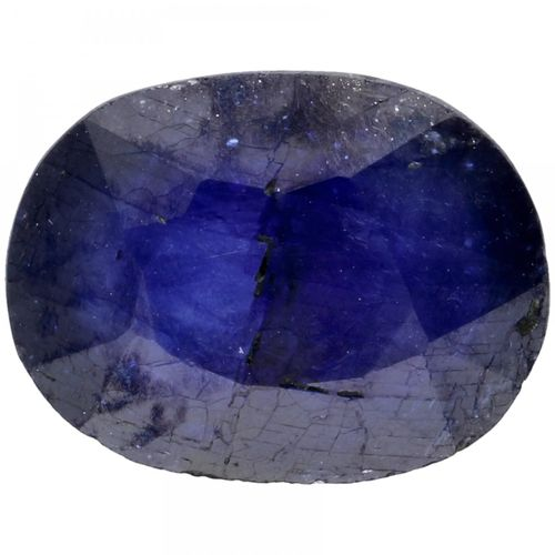 GJSPC Certified Natural Blue Sapphire Gemstone 9.09 ct. Taille : Ovale Mixte, Co…