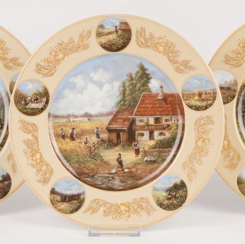 Christian Lückel Seltmann Weiden Plates (3) Porcelain. Null