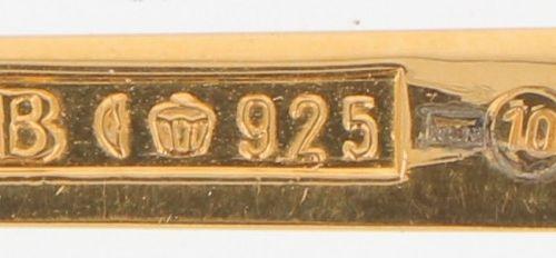 """(2) piece lot of annual spoons """"Robbe & Berking"""" silver. Número del año: 1986 / …"""