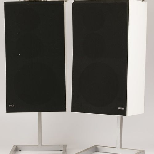 A set comprised of (2) Bang & Olufsen speakers, 20th century. Null