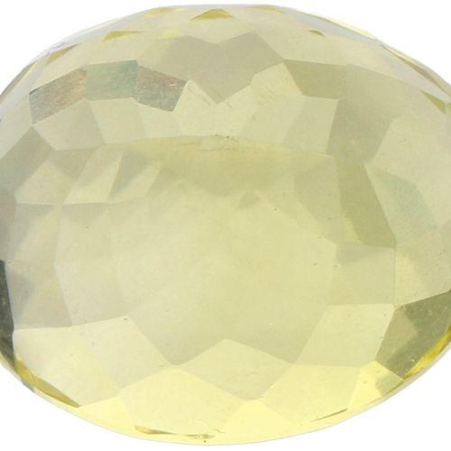 GLI Certified Natural Lemon Quartz Gemstone 9.05 ct. Schliff: Oval Mix, Farbe: L…