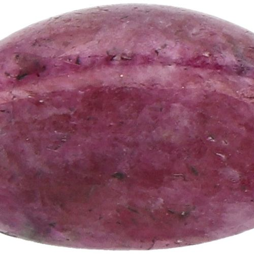 IDT Certified Natural Ruby Gemstone 5.11 ct. Schliff: Ovaler Cabochon, Farbe: Ro…